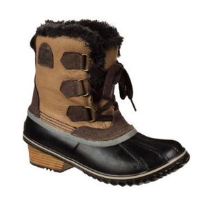 SOREL Brown/Tan Slimpack Pac Boot 6.5